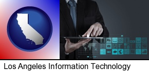 Los Angeles, California - information technology concepts